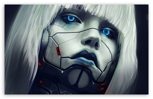 Download Robot Face UltraHD Wallpaper