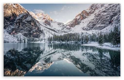 Download Beautiful Mountain Landscape Winter UltraHD Wallpaper