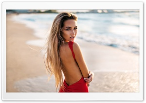 Elegant Blonde Girl