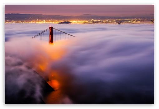 Download Above the Sea of Fog UltraHD Wallpaper