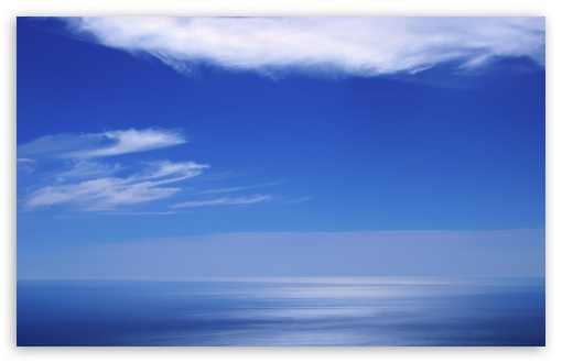 Download Calm Ocean And Blue Sky UltraHD Wallpaper