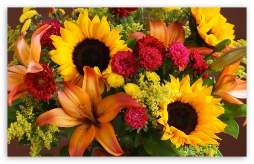 Download Summer Flowers Bouquet UltraHD Wallpaper