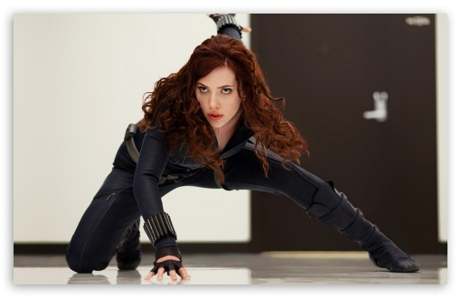 Download Black Widow, Iron Man 2 UltraHD Wallpaper