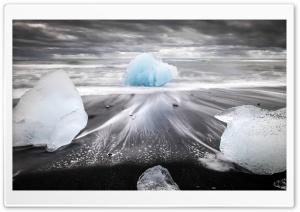 famous Diamond Beach, Iceland