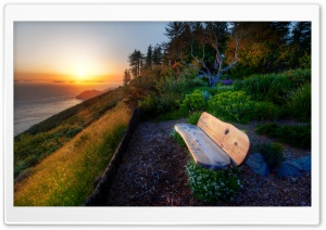 Bench With Sea View, Sunset