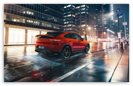 Download Porsche Cayenne, City UltraHD Wallpaper