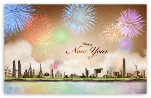 Download Happy New Year UltraHD Wallpaper