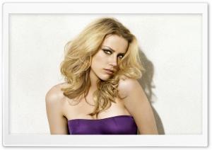 Amber Heard In A Purple Dress