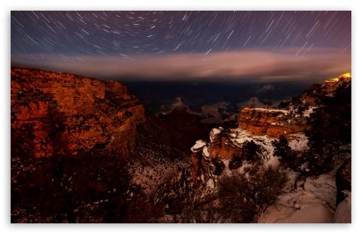 Download Canyon Night Photo UltraHD Wallpaper