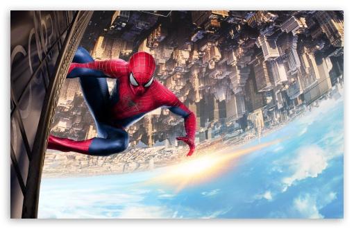 Download Spiderman Climbing Building UltraHD Wallpaper