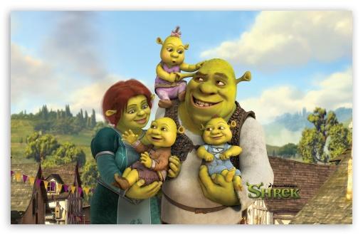 Download Shrek And Fiona's Babies, Shrek The... UltraHD Wallpaper