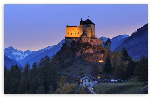 Download Tarasp Castle, Engadin, Switzerland UltraHD Wallpaper