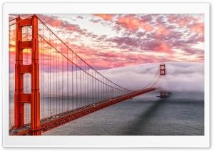 Golden Gate In Clouds San...