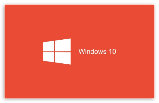 Download Windows 10 2015 Red Background UltraHD Wallpaper