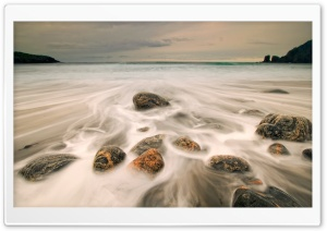 Sea Rushing Over Rocks