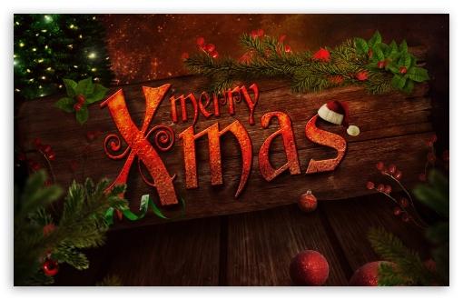 Download Merry Xmas UltraHD Wallpaper