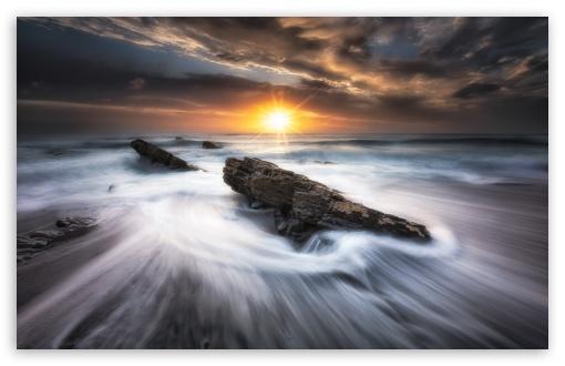 Download Beautiful Cornwall Beach UltraHD Wallpaper