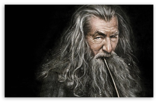 Download Gandalf Smoking Pipe UltraHD Wallpaper