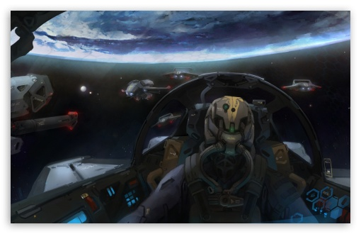 Download Pilot Cabin UltraHD Wallpaper
