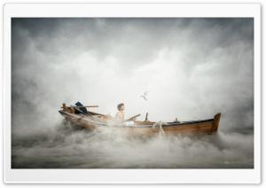 Boy, Boat, Travel, Sea, Mist