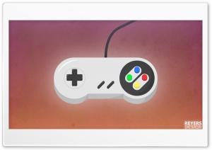 Flat Retro Snes Game Controller