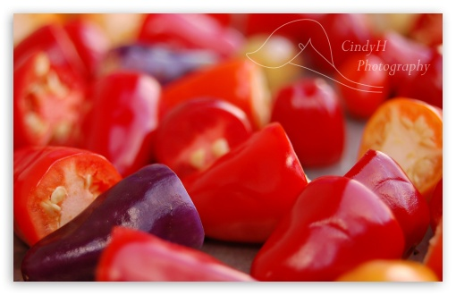 Download Chinese Five Color Peppers UltraHD Wallpaper
