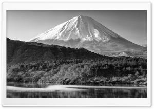 Mount Fuji Black and White