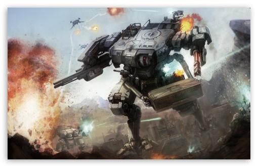 Download Battle Of Robots UltraHD Wallpaper