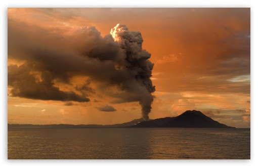 Download Volcanic Eruption in Papua, New Guinea UltraHD Wallpaper