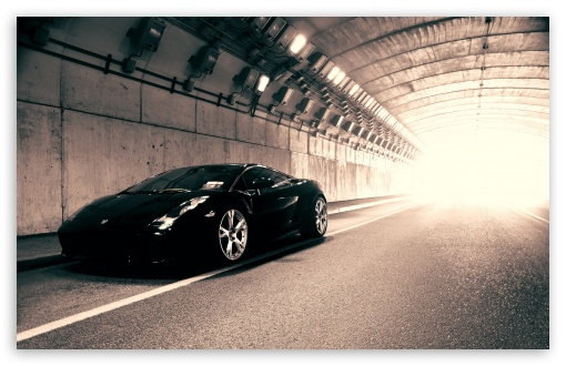 Download Black Lamborghini Gallardo UltraHD Wallpaper