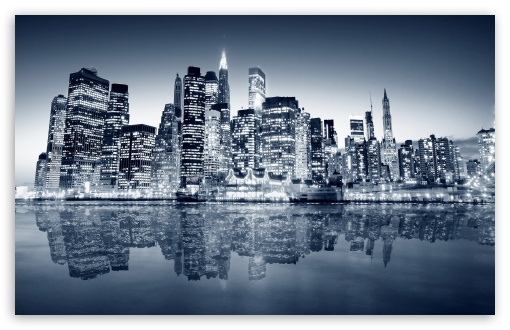 Download Blue City UltraHD Wallpaper