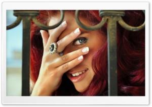 Redhead Woman Playing