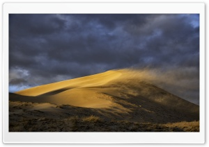 Wind Blowing Sand from Dune...