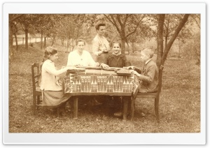 An Outdoor Zither Lesson 1917