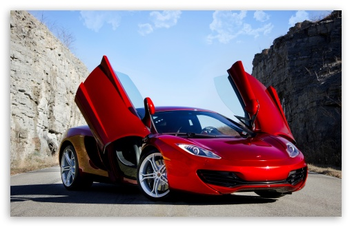 Download Red Supercar UltraHD Wallpaper