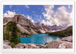 Moraine Lake as seen from the...