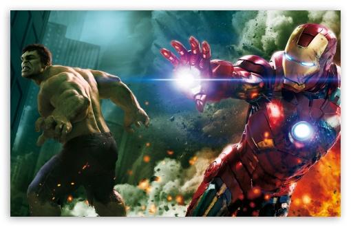 Download The Avengers - Hulk and Ironman UltraHD Wallpaper