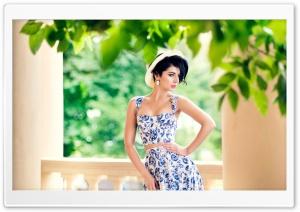 Summer Floral Dress Woman