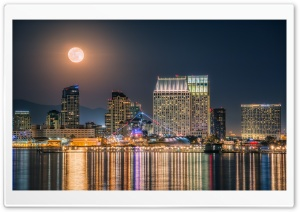 The Full Moon rising over the...