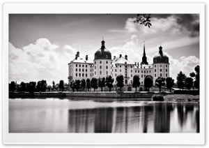 Castle In Black And White