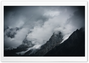 Alps Mountains, Clouds,...