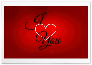 Valentines Day I love you Card