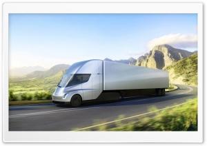 Tesla Semi Electric Truck Road