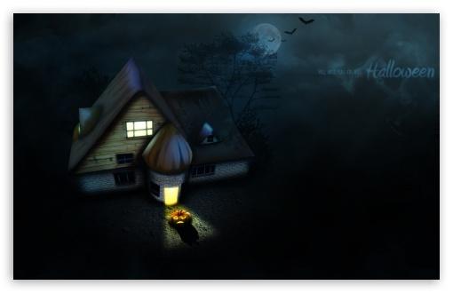 Download Halloween House UltraHD Wallpaper