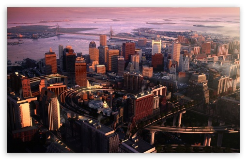 Download Boston Panorama UltraHD Wallpaper