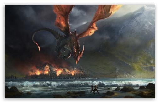 Download Wings Dragon Fire UltraHD Wallpaper