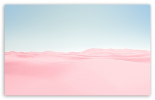 Download Pink Desert, Blue Sky UltraHD Wallpaper