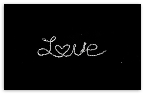 Download Love is the New Black UltraHD Wallpaper