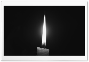 Candle Light-Grayscale