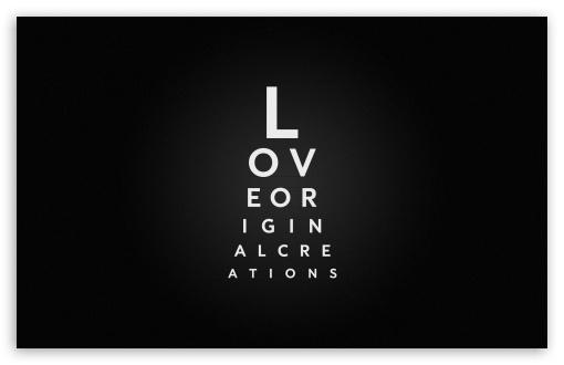 Download Love Typography UltraHD Wallpaper